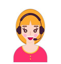female call center avatar vector image