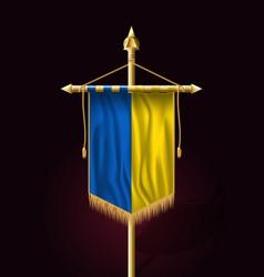 Flag of ukraine festive vertical banner wall vector