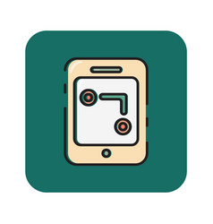 Flat color gps icon vector