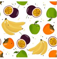 Fresh fruits seamless pattern bright summer vector