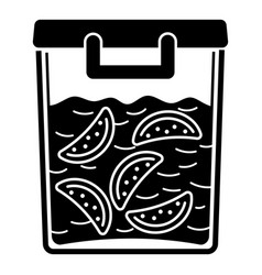 full lunch box icon simple style vector image