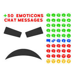 furious smile icon with bonus mood clipart vector image