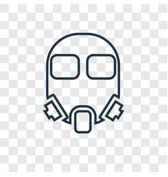 gas mask concept linear icon isolated on vector image