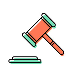 gavel line icon vector image