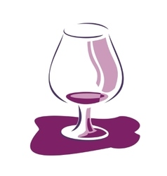 Glass wine background with spots vector