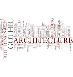 Gothic architecture text background word cloud vector