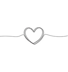 heart sketch doodle hand drawn heart in tangled vector image