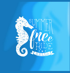 Hello summer free ride template design element vector