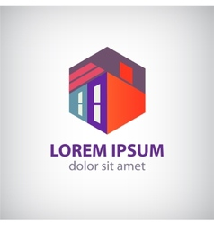 house abstract building construction icon vector image