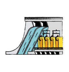 hydroelectric vector image