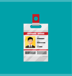 Identification card flat vector