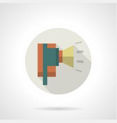 Industrial horn siren flat round icon vector