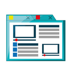 isolated simple browser window vector image