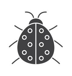 Ladybug glyph icon vector