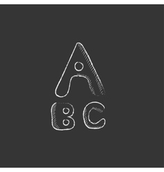 Letters painted in bold Drawn in chalk icon vector image