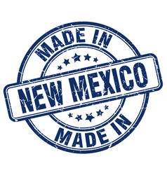 Made in new mexico blue grunge round stamp vector
