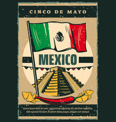 Mexican holiday cinco de mayo sketch poster vector