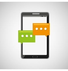 Mobile cellphone social chat icon vector