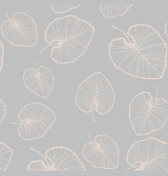 Monstera collection trendy chic gold blush vector