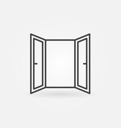 Open window line icon open window symbol vector