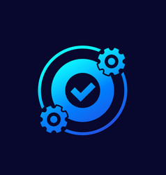 Optimization optimize icon with gears vector
