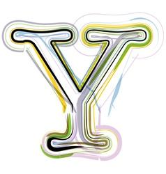 Organic Font letter y vector image