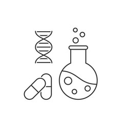 pharmaceutical engineering outline vector image