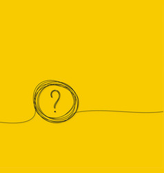 Question mark hand drawn vector