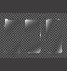 realistic screen protector film or glass cover vector image