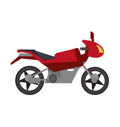Red motorcycle transport style vector