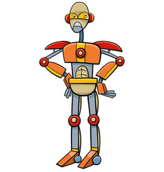 Robot or cyborg cartoon vector