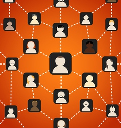 Scheme of social network vector image