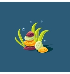Seagrass And Rock Pile vector
