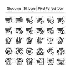 shopping line icon vector image