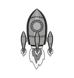 Space rocket icon vector