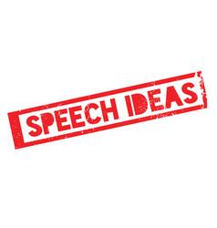 Speech ideas rubber stamp vector