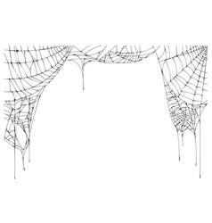 Spider web torn frame isolated on white background vector