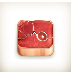 Steak app icon vector