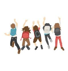 Teenage jumping eps10 format vector