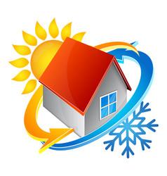 Temperature in house vector