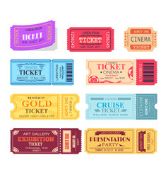 ticket and presentation party vector image