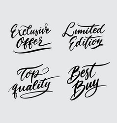 Top quality and limited edition handwriting callig vector
