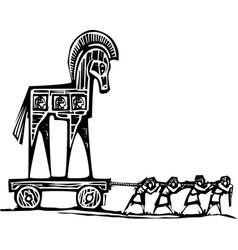Trojan horse dragged vector