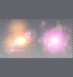 Two stars explosions vector