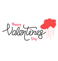valentine day text vector image