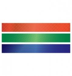 Vector standard banners vector