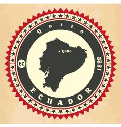 Vintage label-sticker cards of Ecuador vector