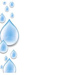 water drop poster vector image