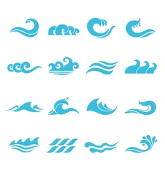 Waves Icons Set vector