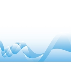 Wavy blue background vector